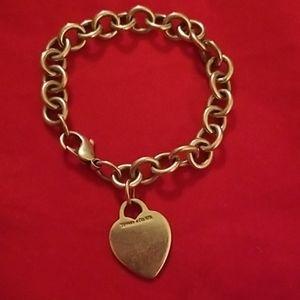 Authentic Tiffany & Co. Heart Tag Bracelet